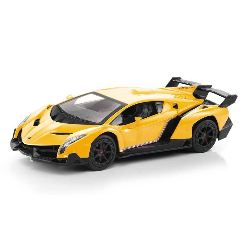 GUOKAI - Vehiculo A Control Remoto Lamborghini Amarillo 1:18
