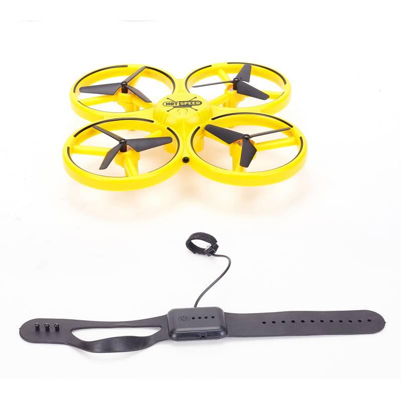 HELIC MAX - Dron A Control Remoto con Luces Amarillo