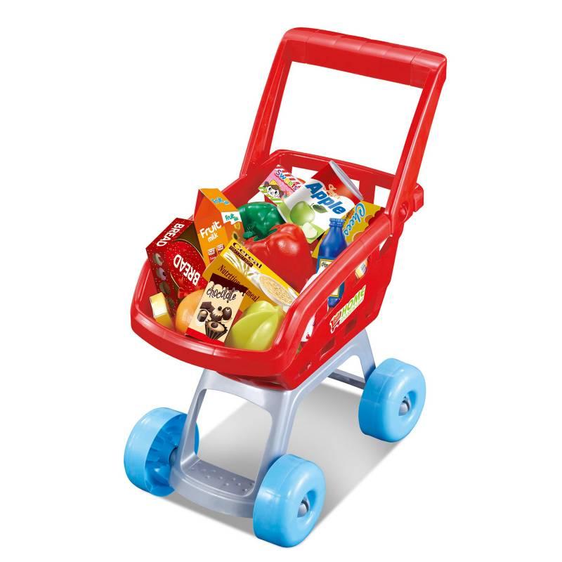 KIDS N PLAY - Juego de Roles Carrito de Supermercado 22Pzs