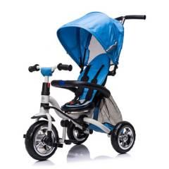 SCOOP - Triciclo Sin Pedales Plegable Azul