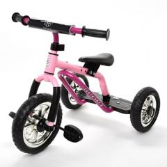 SCOOP - Triciclo Sin Pedales Clásico Rosado