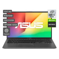 "ASUS - Laptop Vivobook X512 15"" Core i510ma 8G RAM 512GB SSD + 32GB Optane + 2GB Video Nvidia MX 130 - Pantalla HD"