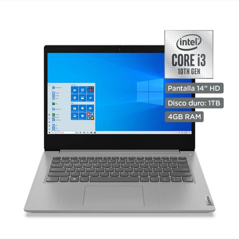 "LENOVO - Laptop 14"" IdeaPad Core i3 10ma Gen 4GB RAM 1TB - Pantalla HD"