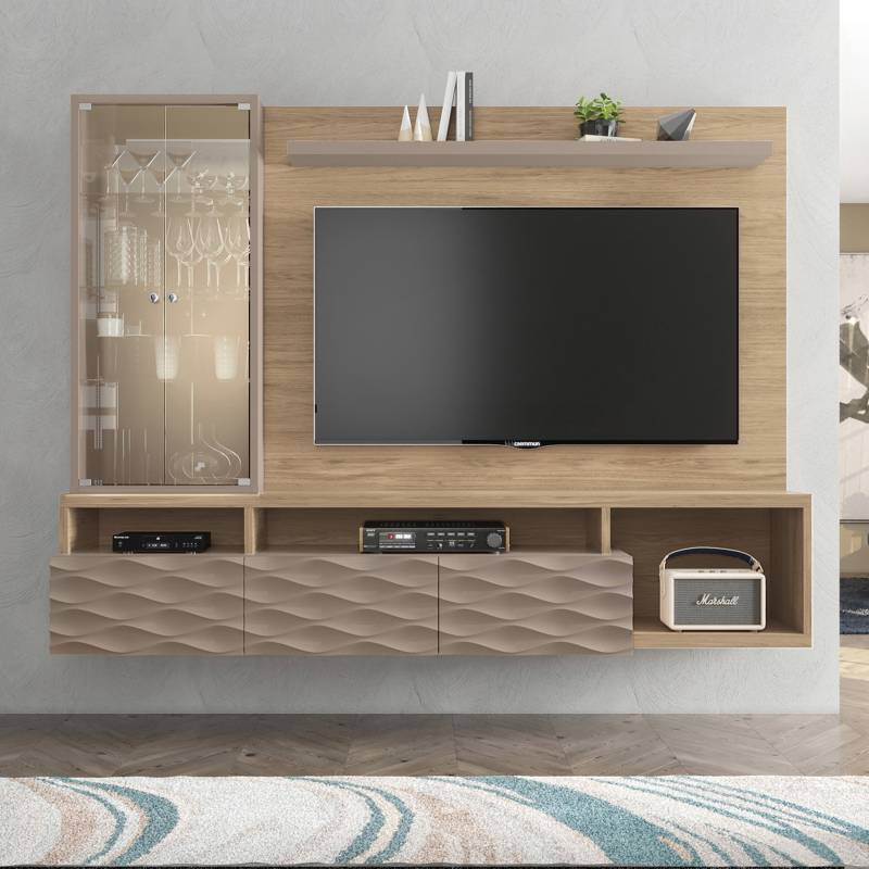 "BASEMENT HOME - Panel de TV 70"" Wave"