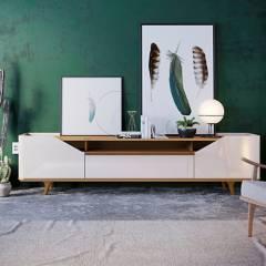 """BASEMENT HOME - Mesa de TV 65"""" Arc"""