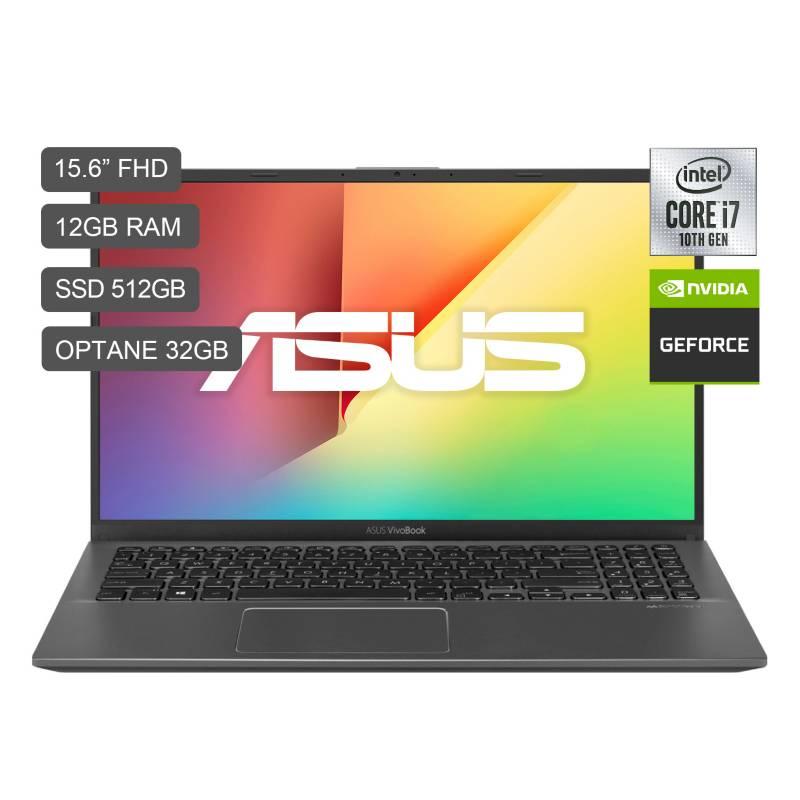 "ASUS - Laptop VivoBook 15"" X512JP Core i7-1065G7 512GB SSD 12GB RAM + OPT 2GB Video MX250"
