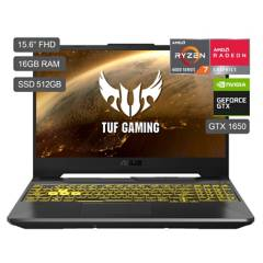 "ASUS - Laptop Gamer TUF A15 15.6"" FX506IU R7-4800HS 512GB SDD 16GB RAM + 4GB Video Nvidia GTX1650"