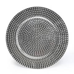 ROBERTA ALLEN - Plato de Sitio Puntos Plateado 33 cm