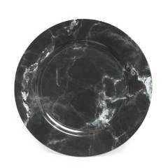 ROBERTA ALLEN - Plato de Sitio Marmol Negro 33 cm