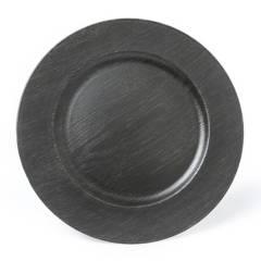 ROBERTA ALLEN - Plato de Sitio Wood Black 33 cm