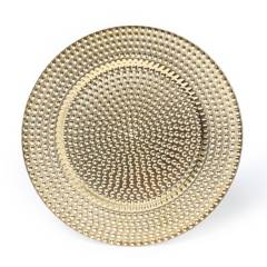 ROBERTA ALLEN - Plato de Sitio Puntos Dorado 33 cm