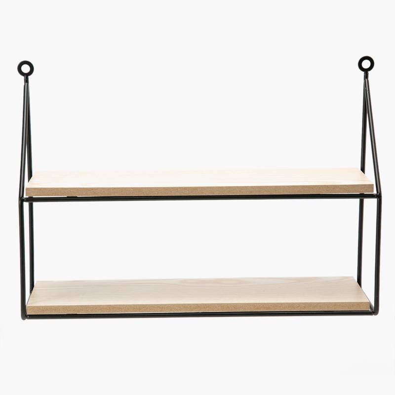 MICA - Mueble de Metal y Madera Natural 25x35x10cm
