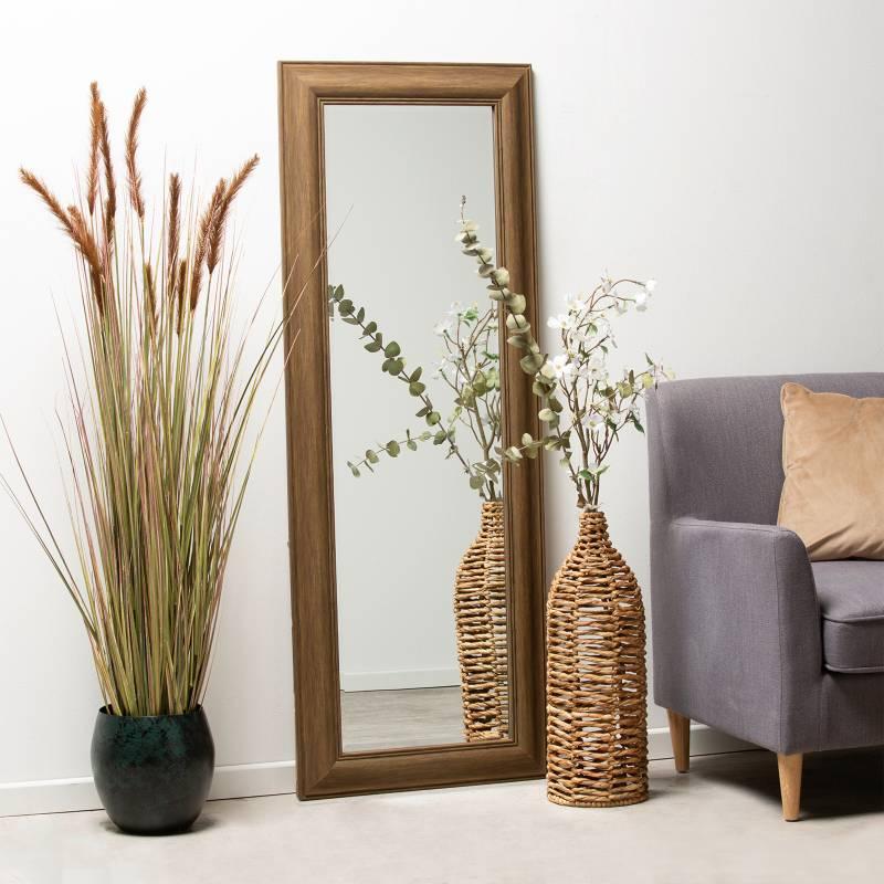 MICA - Espejo de Piso Rectangular Marron 160x60cm
