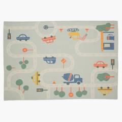 MICA - Alfombra Infantil Pista Autos 90x120 cm