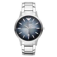 ARMANI - Reloj Armani Renato De Hombre Correa En Acero Plateado  Análogo