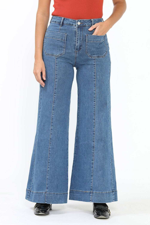 BASEMENT - Jean Wide Leg Mujer Basement
