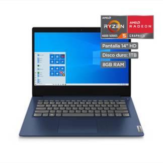 """LENOVO - IdeaPad 3  AMD Ryzen 5  14"""" HD  1TB HDD  8GB RAM  Abyss Blue"""