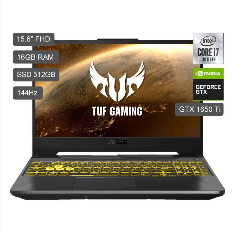"""ASUS - Laptop Gamer TUF F15 15.6"""" FX506LI I7-10870H 512GB SDD 16GB RAM + 4GB Video Nvidia GTX1650Ti"""
