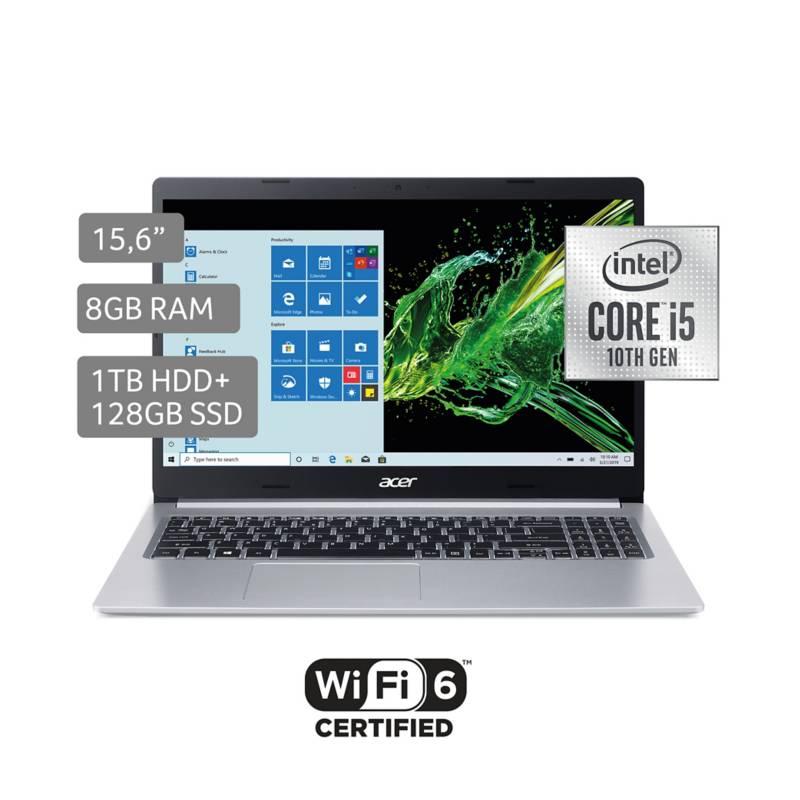 "ACER - Laptop Acer Aspire 5 15.6"" Core i5 10ma Gen 8GB RAM 128GB SSD + 1TB"