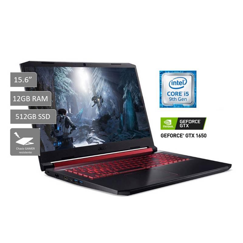 "ACER - Gamer Nitro AN515-54-59ED 15.6""FHD Core I5 9300H 12GB 512GB 4GB NVIDIA GTX 1650"
