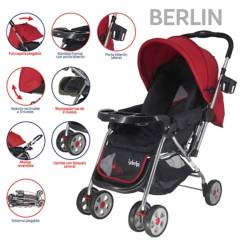 YAMP - Coche Cuna Berlín Rojo