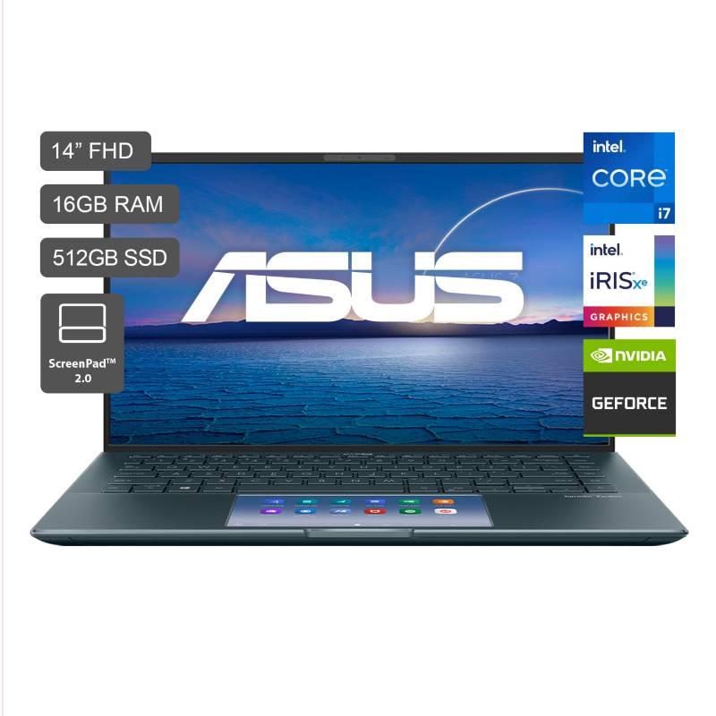 """Laptop Zenbook 14"""" UX435 Core i7 11va Gen 512GB SSD 16GB RAM - Pantalla FHD - 2GB Video Nvidia MX450"""