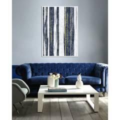 BASEMENT HOME - Cuadro Rayas Azules 80x120cm