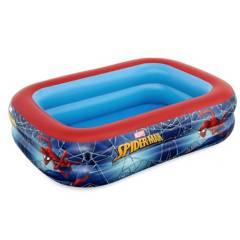 BESTWAY - Piscina Para Niños Spiderman Capacidad 450 L - 2.00 M X 1.46 M X 48 cm