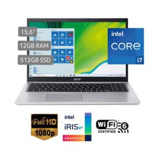 "ACER - Laptop Aspire 5 A515-56-76D1 15.6"" Core i7 1165G7 12GB 512GB"