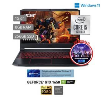 "ACER - Gamer Nitro 5 AN515-55-5385 15.6"" FHD Core i5 10300H 8GB 256GB 4GB NVIDIA GTX 1650 Wifi 6"