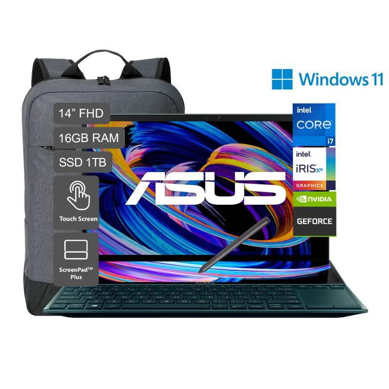 """ASUS - Laptop Zenbook Duo 14"""" UX482 Core i7 11va Gen 1TB SSD 16GB RAM - Pantalla FHD - 2GB Video Nvidia MX450"""