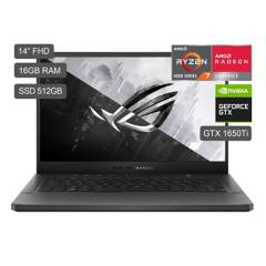 "ASUS - Laptop Gamer ROG Zephyrus G14 14"" GA401II R7-4800HS 512GB SDD 16GB RAM + 4GB Video Nvidia GTX1650Ti"