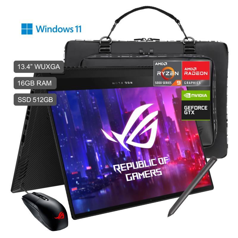 ASUS - ROG Flow X13 GV301QH Ryzen 9 5900HS 13.4'' WUXGA 512GB SSD 16GB RAM 4GB GTX 1650