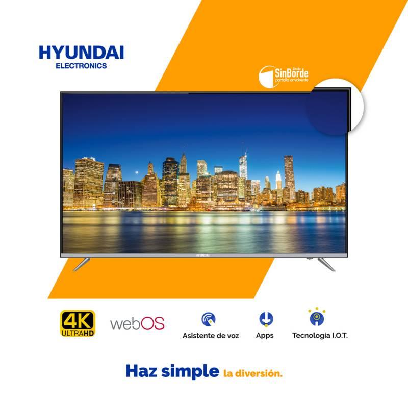 """HYUNDAI - Televisor LED 55"""" 4K SMART WebOS Bluetooth Borderless HYLED5521W4KM"""