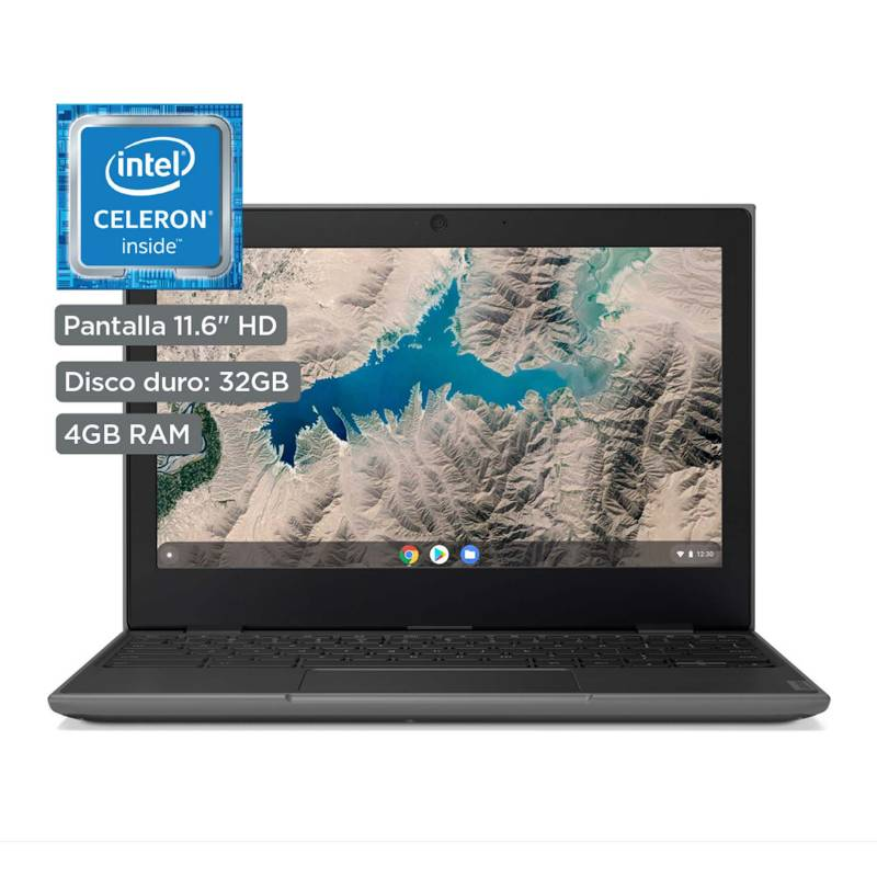 "LENOVO - 100e Chromebook 2da Gen  Intel Celeron  11.6"" HD  32GB  4GB RAM  Black"
