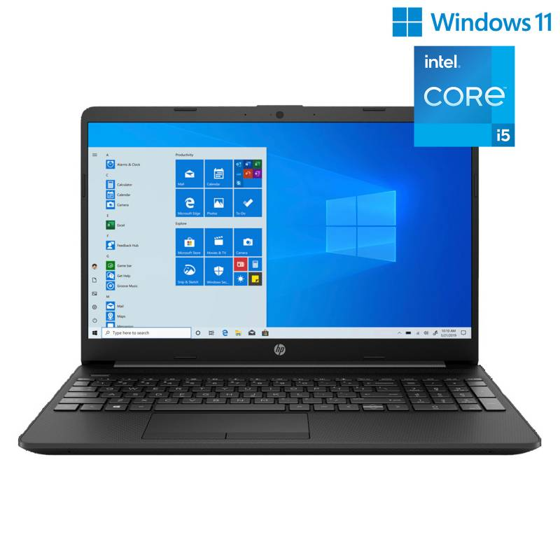 "HP - Laptop HP 15T-DW300 15.6"" Intel Core I5 (11VA) 8GB 256GB SSD Jet Black, Teclado en inglés"