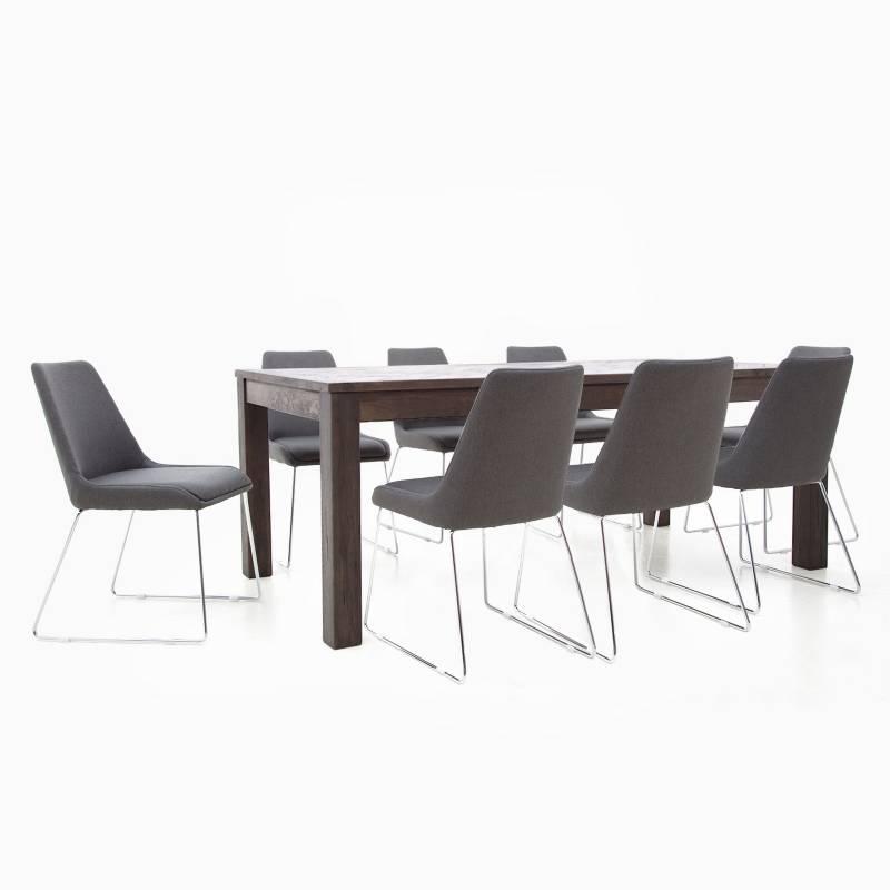 BASEMENT HOME - Juego de Comedor Paquet 8 sillas