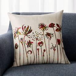 CRATE & BARREL - Cojín Casella Tejido Floral de Relleno Sintético 46x46cm