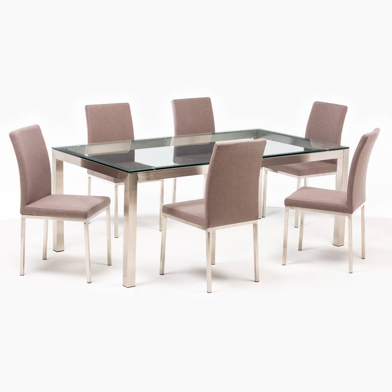 BASEMENT HOME - Juego de Comedor Positano 6 sillas