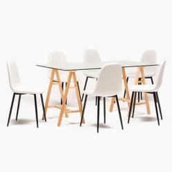 MICA - Juego de Comedor Triada 6 sillas