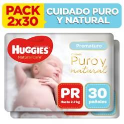 HUGGIES - Pack Pañales Natural Care Prematuro 2x30