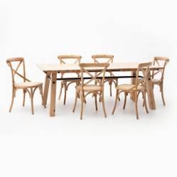 MICA - Juego de Comedor Dominga 2 6 sillas