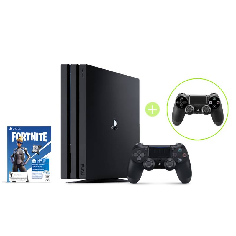 SONY - Combo: PS4 HW 1TB PRO FORTNITE BNDL + Control PS4 Negro