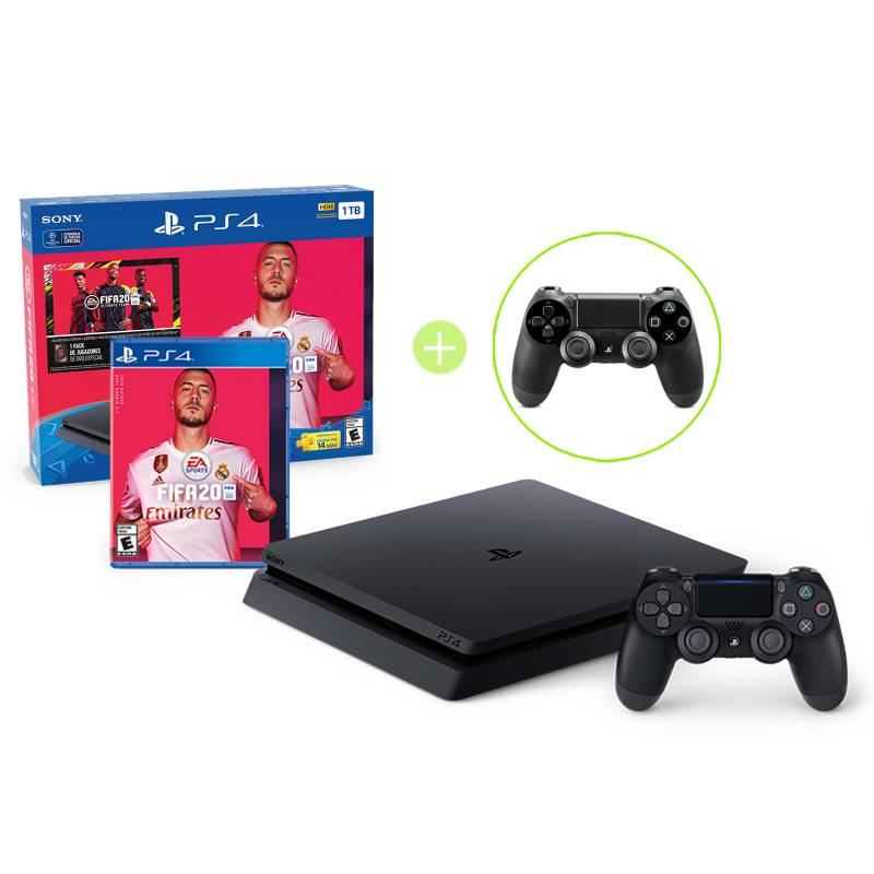 SONY - Combo: FIFA 2020 BUNDLE + Control PS4 Negro