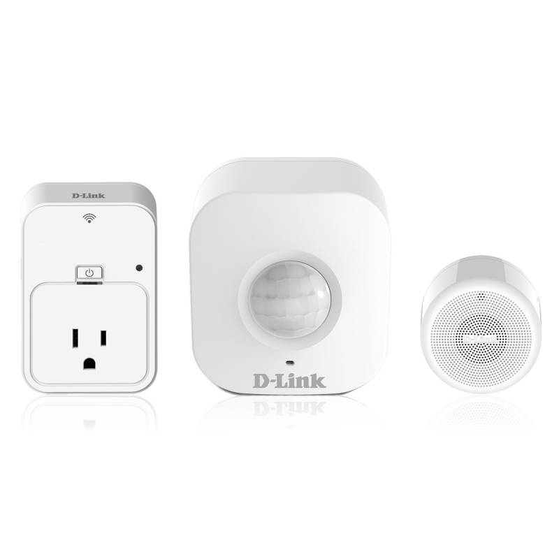 DLINK - Combo Casa Inteligente: Sensor de Movimiento + Alarma + Enchufe Inteligente