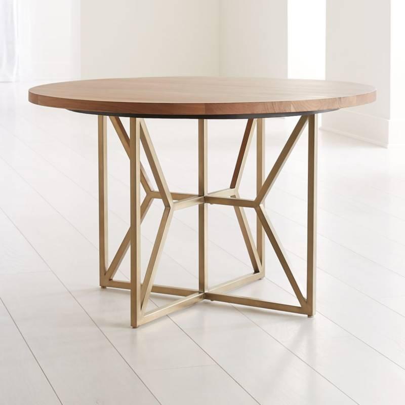 - Mesa de Comedor Redonda Hayes de Madera de Acacia 122 cm