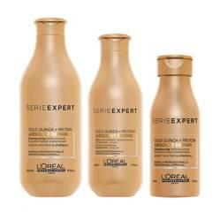 LOREAL PROFESSIONNEL - Pack Absolut Repair Gold (Shampoo 300ml + Acondicionador 200ml + Shampoo 100ml GRATIS)