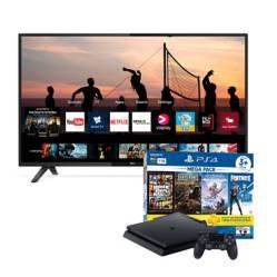 "Combo: Televisor 43"" SMART TV + Consola PS4 Slim"