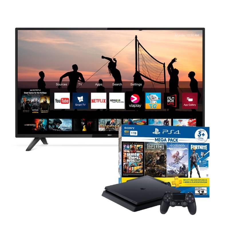 """SONY - Combo: Televisor 43"""" SMART TV + Consola PS4 Slim"""