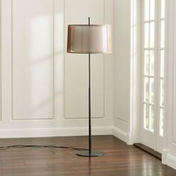 CRATE & BARREL - Lámpara de pie Eclipse Bronce